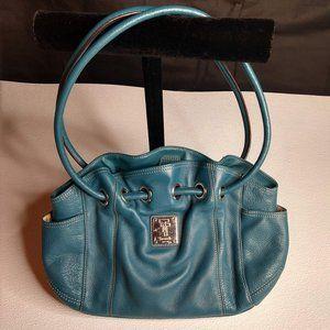 Tignanello Leather Purse with Key Chain Blue